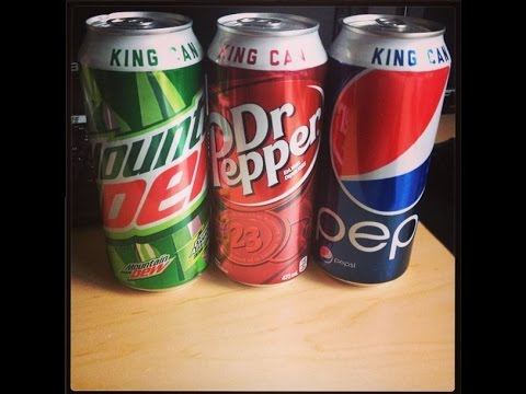☺Pepsi-Mountain Dew-Dr Pepper King Cans☺-July 3rd 2014