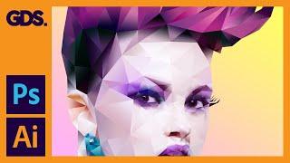 Polygonal Portrait Gradient Effect In Adobe Photoshop