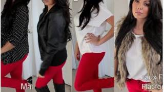 Celebrity Look For Less : How To Style Red Jeans