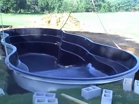 Leisure pools first deep end fiberglass pool installed in Fiberglass swimming pool installation