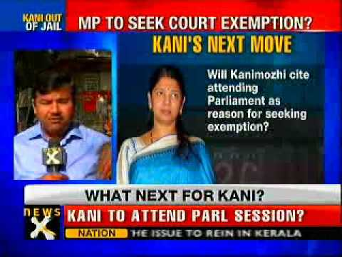 After jail release, Kanimozhi may attend Parliament