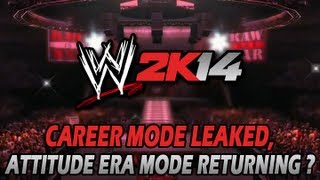 WWE 2K14: Career Mode Revealed, Attitude Era Mode