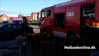 Motorbrand i bd i Holbk Gl. Havn