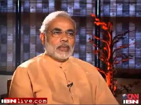 Narendra Modi walking out of Karan Thapar Interview