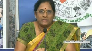 YSRCP Vasireddy Padma spits fire on Chandrababu
