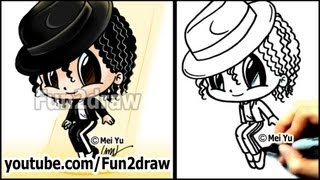watch michael jackson cartoon drawing lesson how to draw