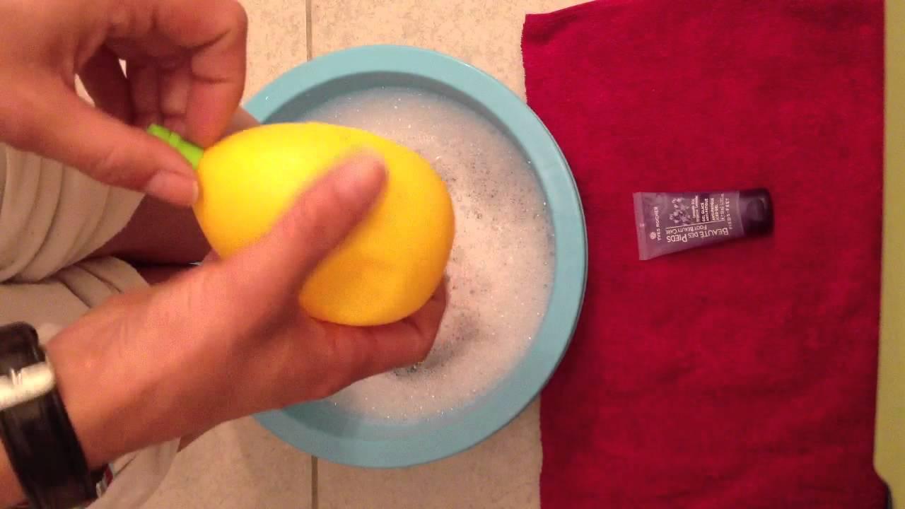 Soigner pieds avec citron soin des pieds au citron astuce facile soin des pieds youtube - Coupe des ongles de pieds ...