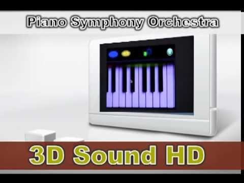 Apple iPad/iPhone (3D Sound HD) APP, Moonlight Sonata, Piano Symphony Orchestra 3 (3D Sound HD)
