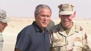 President George W. Bush Making a Surprise Visit to an Iraqi Air Base (2007)