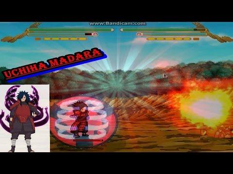 Naruto Shippuden MUGEN 2014 jogando com o Uchiha Madara  ( Download)