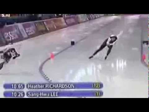 Olympic Winter Games 2014 - Lee Sang hwa wins gold medal 500 meters -