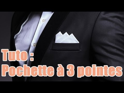 R aliser un pliage d 39 une pochette trois pointes youtube - Comment porter une pochette ...