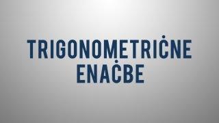 Trigonometrične enačbe – uvod