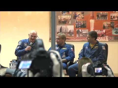 Expedition 38 39   Pre Launch Crew News Conference in Baikonur Kazakhstan