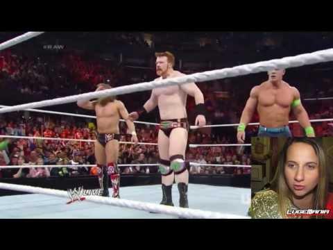 WWE Raw 1/27/14 Daniel Bryan Sheamus Cena vs The Shield MAIN EVENT