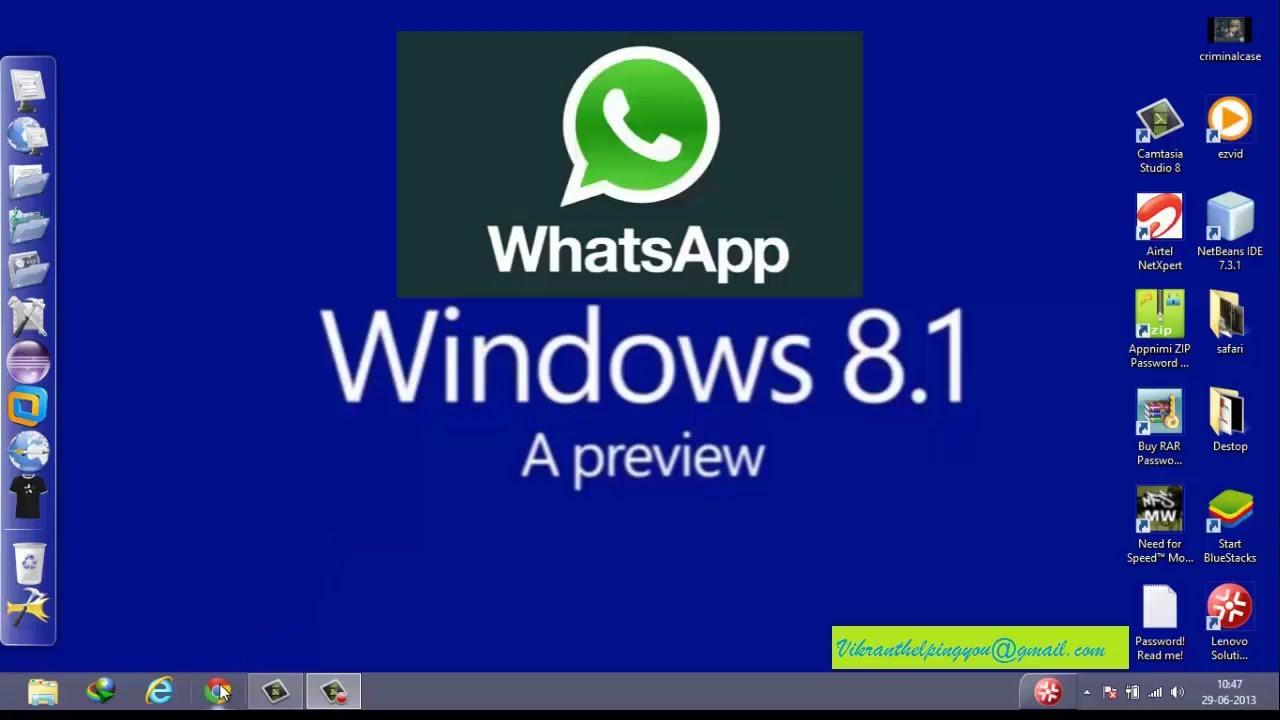 whatsapp windows 7