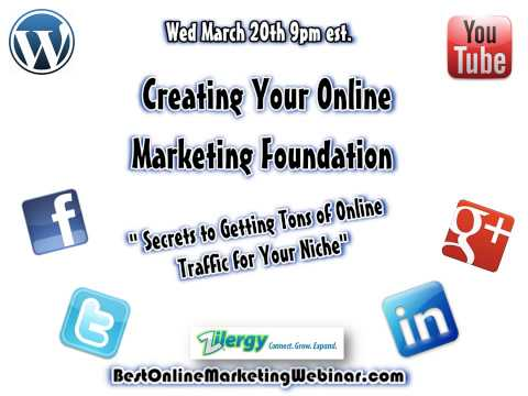 Youtube and Video Sharing Webinar - The Best Online Marketing Webinar with Trailer