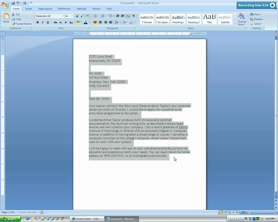 Essay on microsoft word