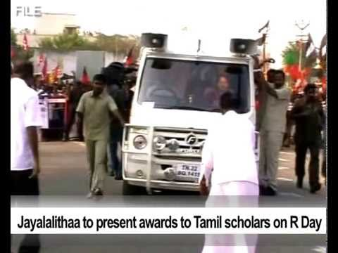 Jayalalithaa to present awards to Tamil scholars on R Day