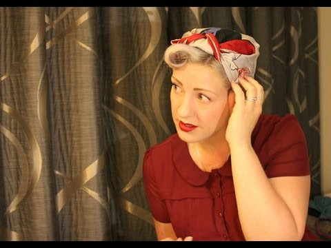 how to tie a 1940s headscarf youtube