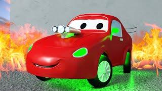 Jerry, el Auto de Carreras ! - Tom La Grua en Auto City 🚗 l Dibujos Animados para Niños