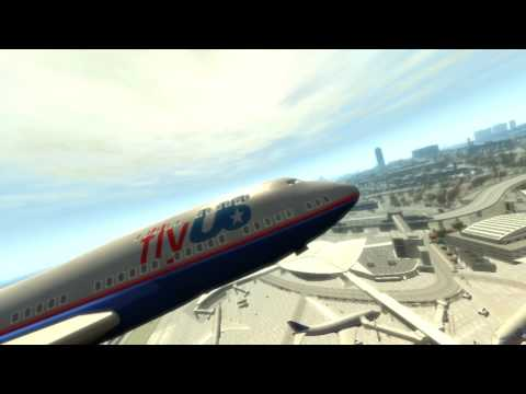 Flying an Airplane in GTA IV