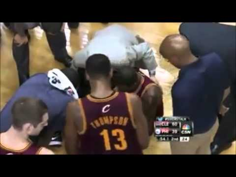 Cleveland Cavaliers vs Philadelphia 76ers Highlight | Dion Waiters Gets Injured 2/19/2014