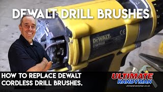 Replacing Dewalt cordless drill brushes.