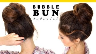 2-Minute BUBBLE BUN Hairstyle   Easy Hairstyles for Medium Long Hair
