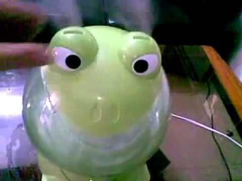 Máy phun sương, máy tạo hơi nước hình con vật ( ếch
