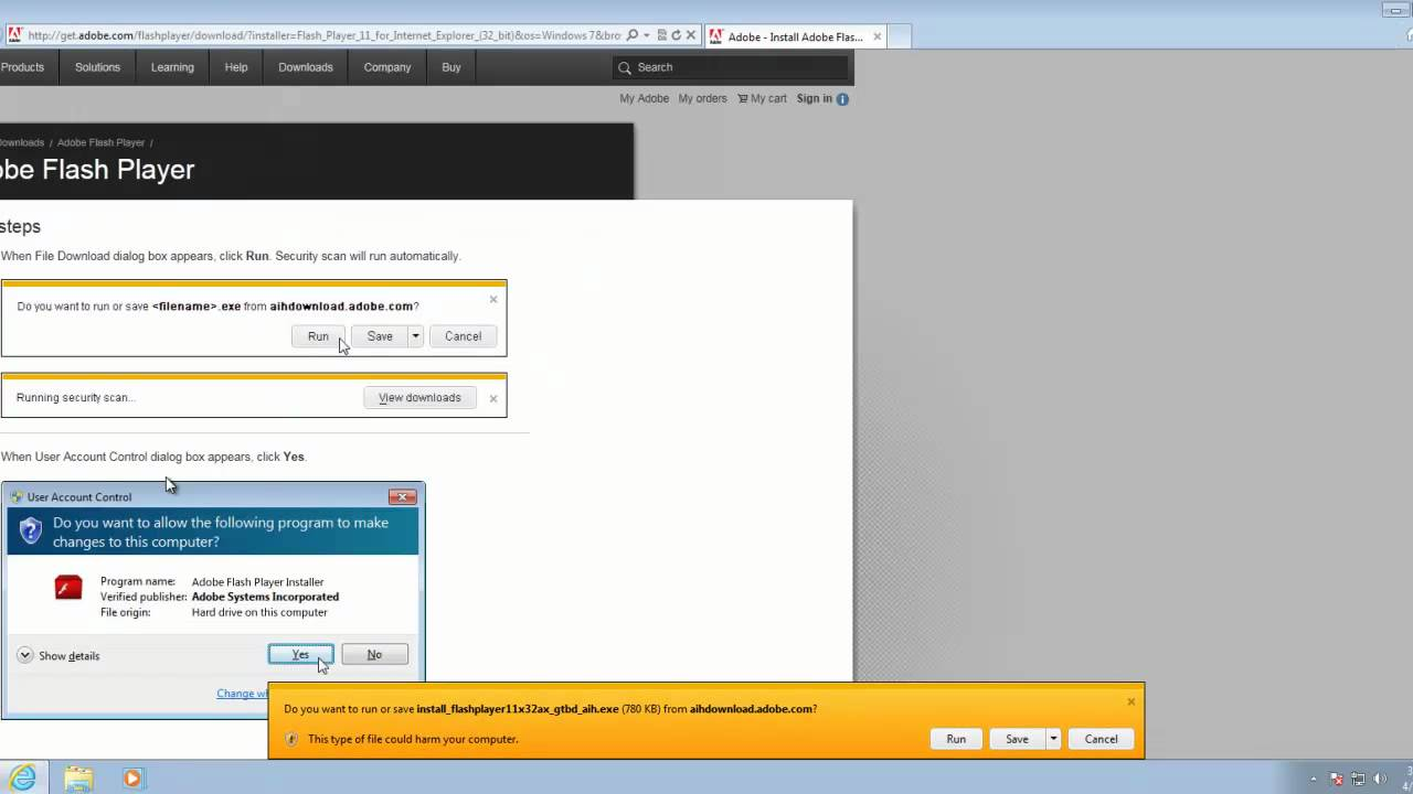 How to install adobe flash player 11 youtube Install adobe flash