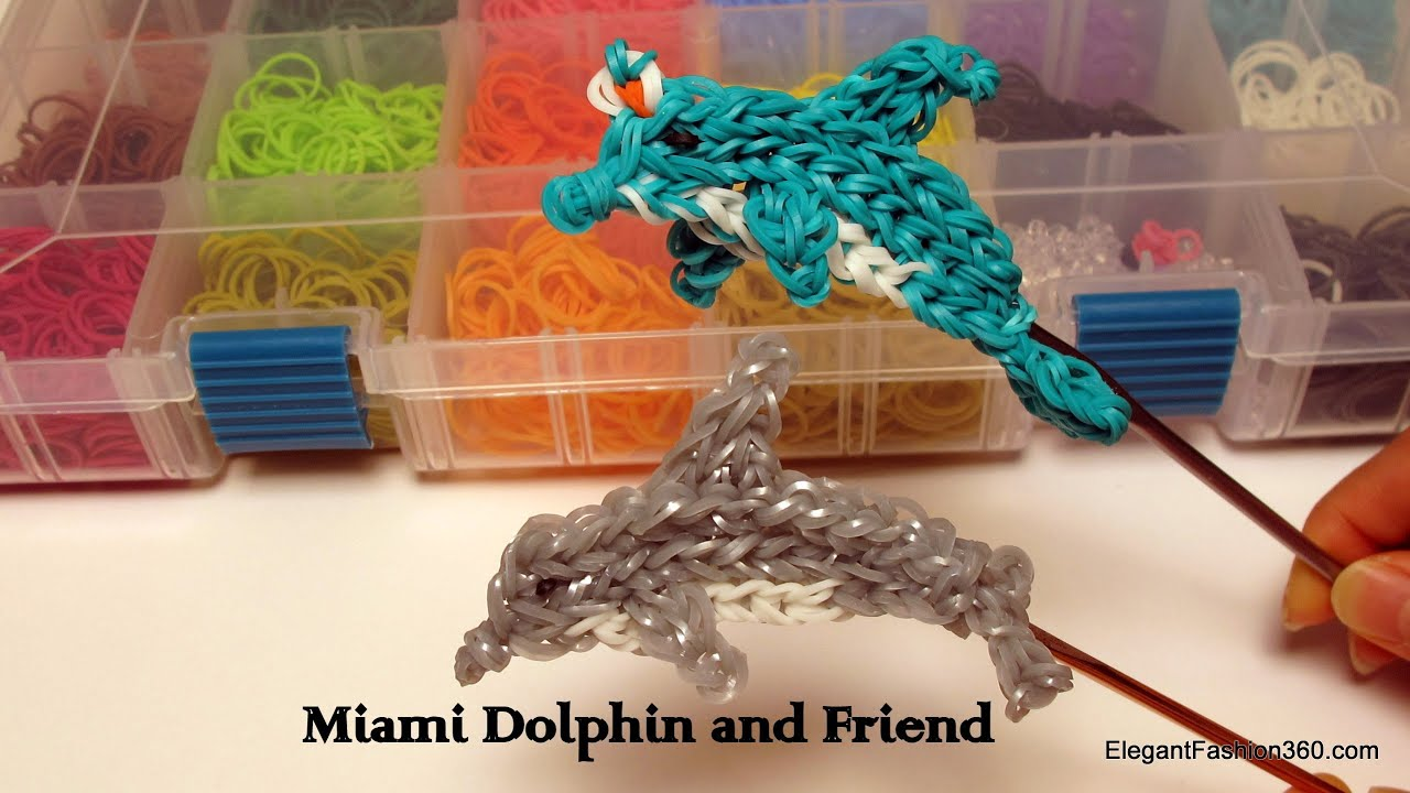 Rainbow loom dolphin - photo#8