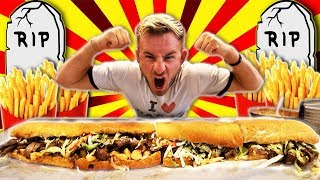 The Monster UNDERTAKER Sub Sandwich Challenge! (10,000+ Calories)