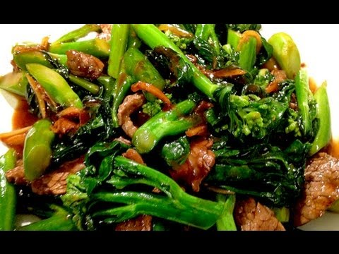 Stir Fry Chinese Broccoli with Flank Steak/Beef 芥蘭炒牛肉 ...