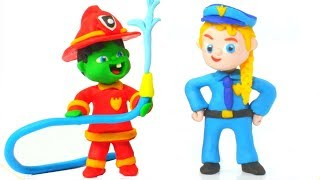 Superhero Babies Learning Professions ❤ Hulk & Frozen Elsa Play Doh Cartoons & Stop Motion Movies