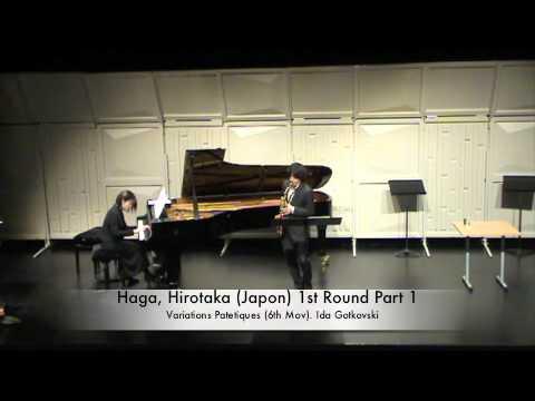 Haga, Hirotaka (Japon) 1st Round Part 1