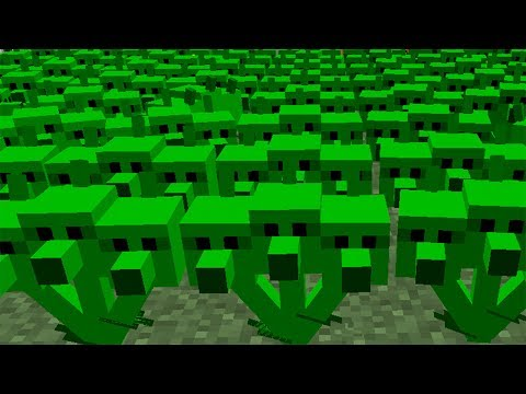Plants vs. Zombies 2 Minecraft Mod - Threepeater vs Zombies!