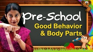 Pre School Learning For Kids   Colors, Shapes, Body Parts, Time, Good Behavior   Pre School Videos