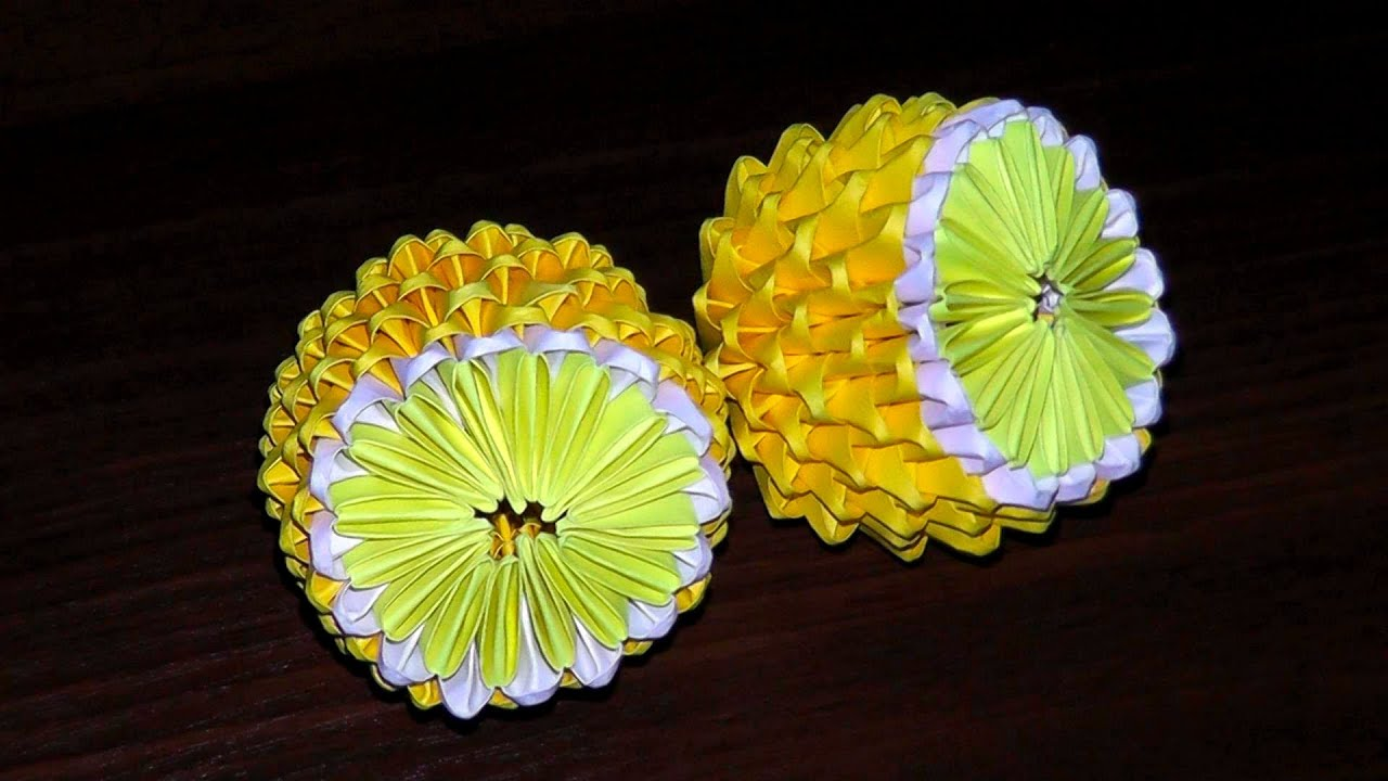 3D origami lemon (tutorial, instructions) - YouTube - photo#41