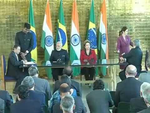 India, Brazil sign 3 MoU
