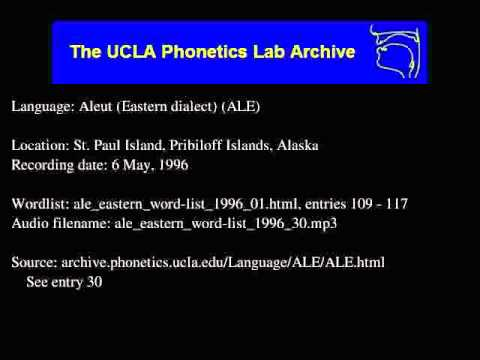 Aleut audio: ale_eastern_word-list_1996_30