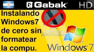 Instala Windows 7 De Cero Sin Formatear La Pc (Sin Perder