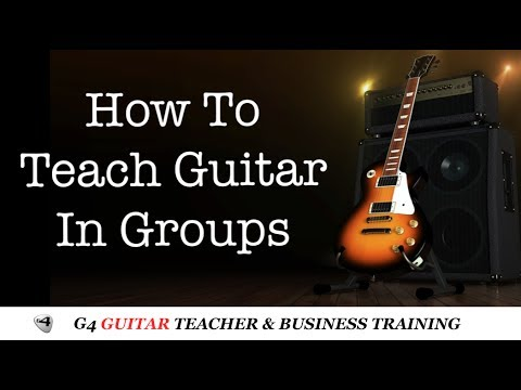 How To Teach Guitar in Groups - G4TV Guitar Teacher Training