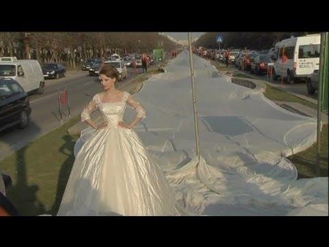اطول فستان زفاف فى العالم