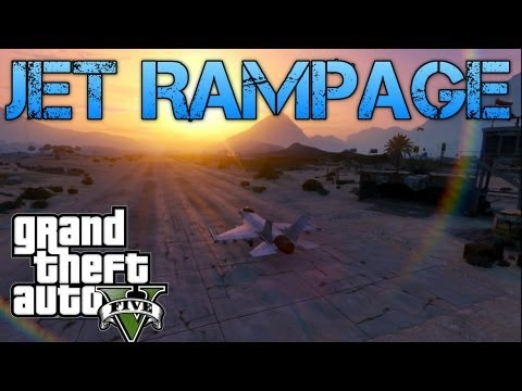 Grand Theft Auto V | MILITARY JET RAMPAGE & FASTEST CAR DOWN CHILIAD | PS3 HD Gameplay