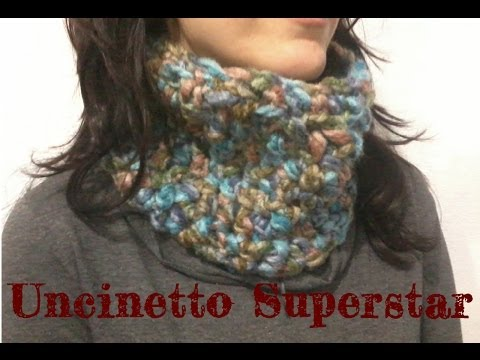 Scaldacollo all'uncinetto facilissimo  si fa con un gomitolo! | Super easy crochet cowl tutorial