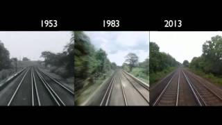 London to Brighton Train Journey: 1953,1983, 2013