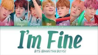 BTS (방탄소년단) - I'm Fine (Color Coded Lyrics Eng/Rom/Han/가사)
