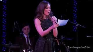 Laura Benanti hosting the 2014 Drama Desk Awards.