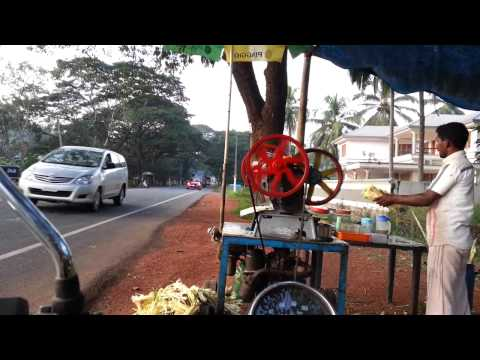Making Sugar Cane Juice - Malappuram - Kerala